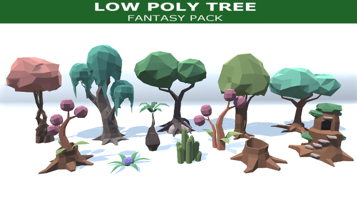 Low Poly Tree Fantasy Pack