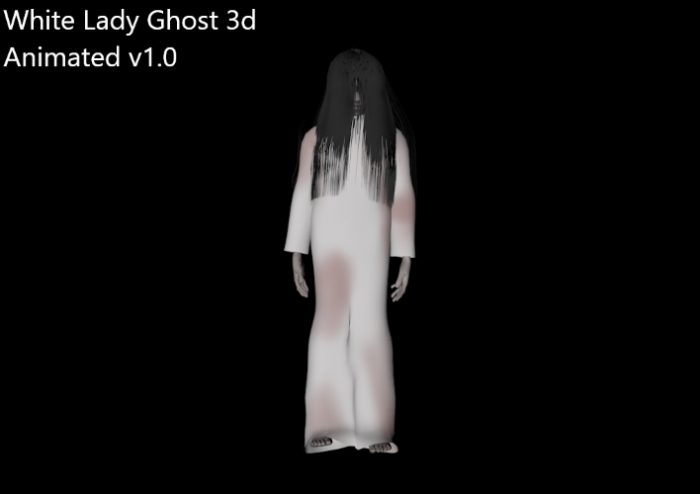 White Lady ghost animated