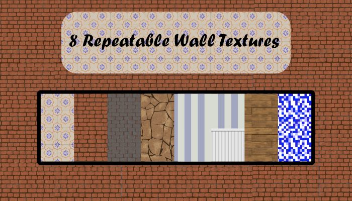 Eight repeatable wall textures