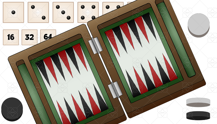 Backgammon game asset complete graphic set