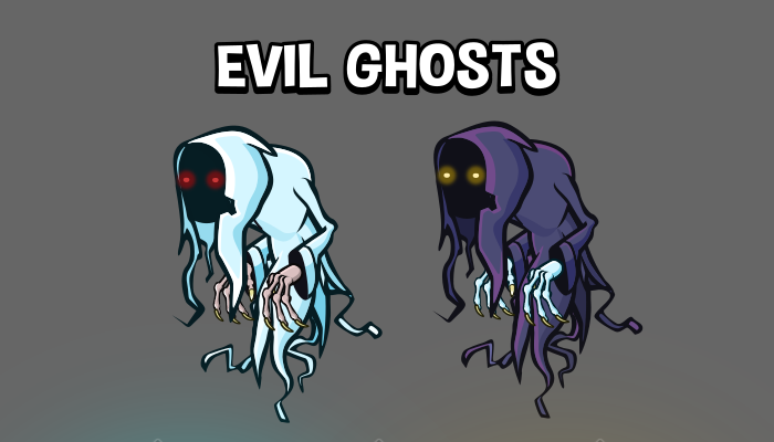 Animated evil ghost game sprite