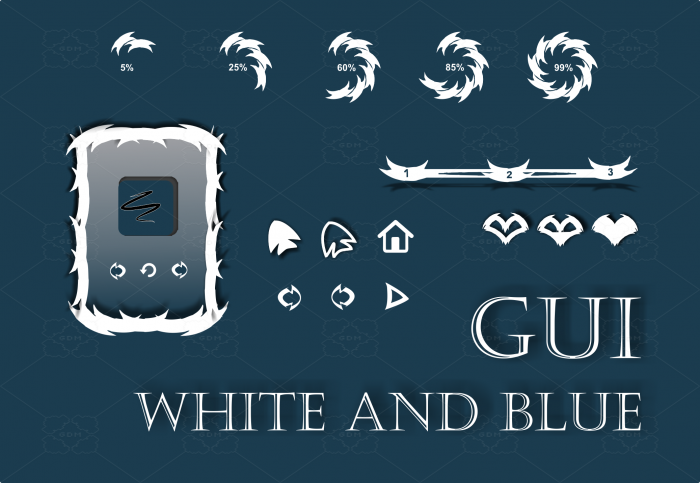 GUI White and Blue