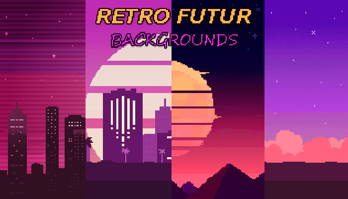 Retro Futur Backgrounds Pack