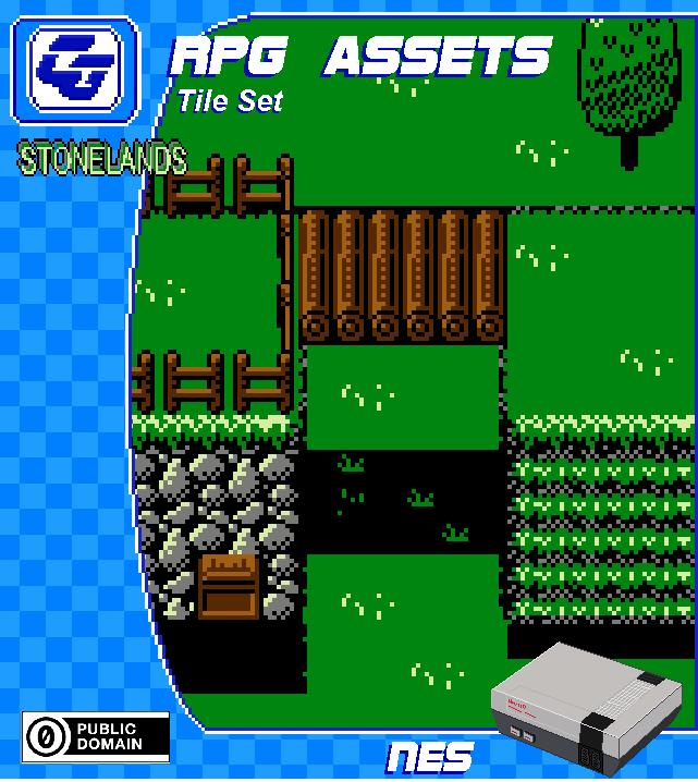 RPG Tile Set 'Stonelands' NES