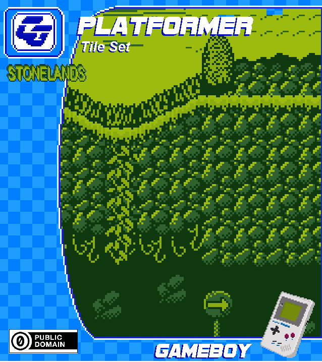 PLATFORMER Asset 'Stonelands' Gameboy
