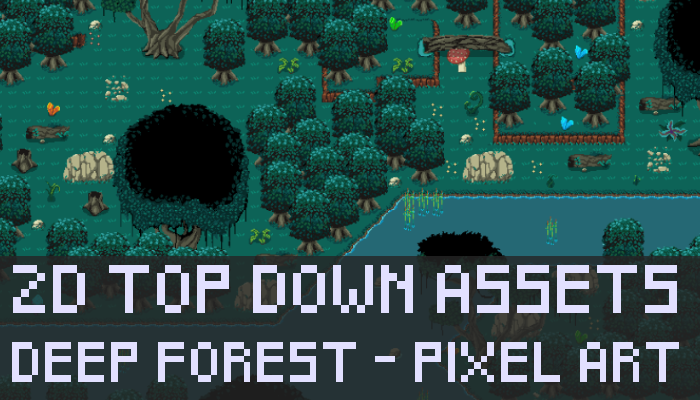 Top Down Deep Forest Pixel Art