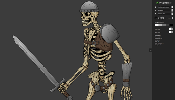 2D Animated skeletons characters