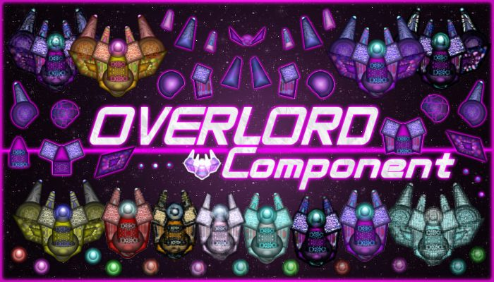 OverLord Component – Top Down Spaceship with Parts