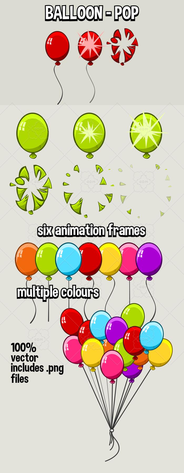 Balloon popping animation