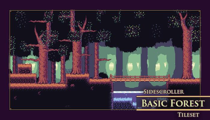 Basic Forest Sidescroller Tileset