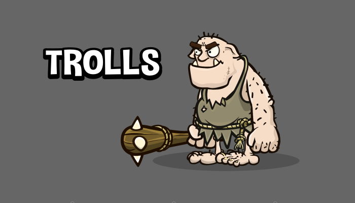Animated troll 2d game asset