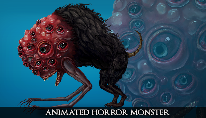 2D Animated Horror Monster – Doggo