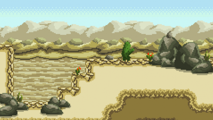 Desert Platformer – Pixel Art Assets