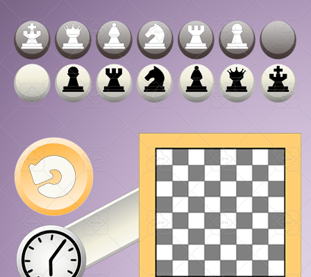 Chess and Checkers graphic asset set.
