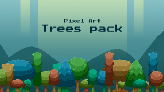 Pixel art trees pack!