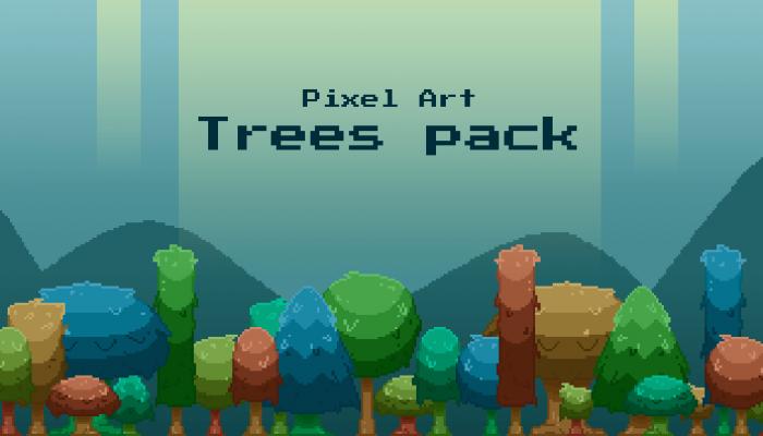 Pixel art trees pack!