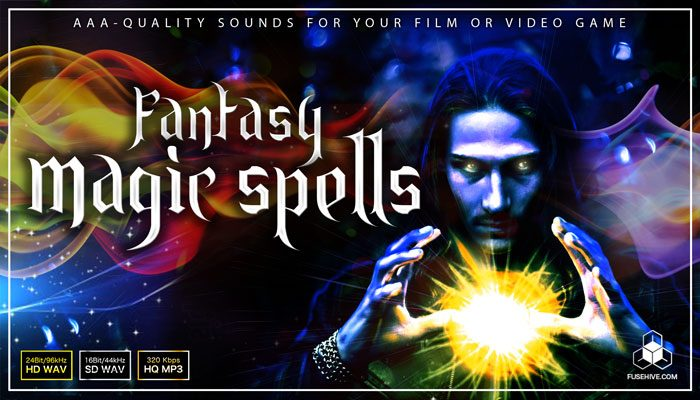 Medieval Fantasy Magic Sound Effects Library – Elemental, White (Holy) and Black Magic Sound Pack