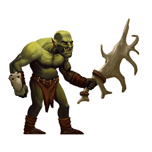 Orc Melee 2D Character