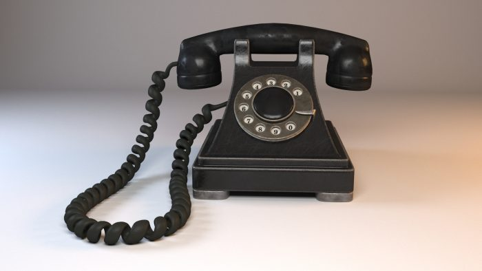 Rotary Old Phone with Materials