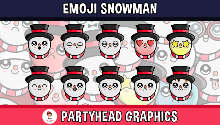 Emoji Emotion Snowman Faces
