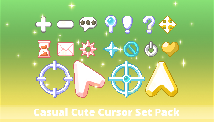 Casual Cute Cursor Set Pack