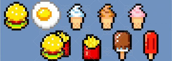 16×16 Pixel Food Items
