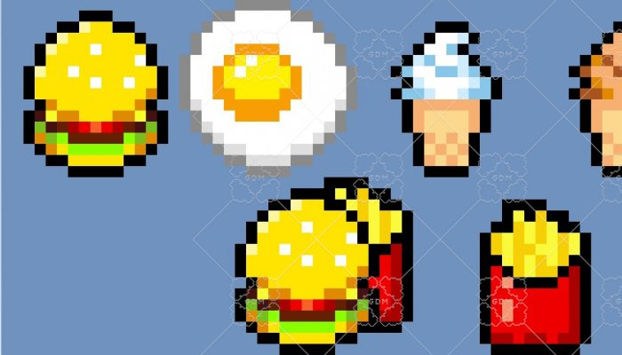 16×16 Pixel Food Items
