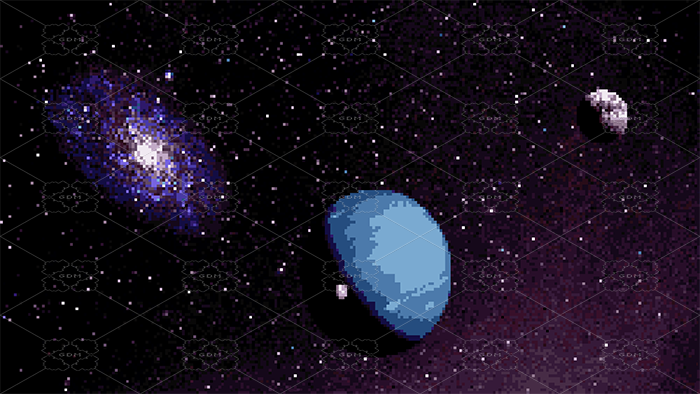 SPACE PIXEL BACKGROUND
