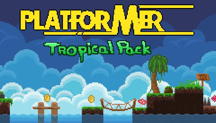 2D Pixel Art Platformer Tropical Pack