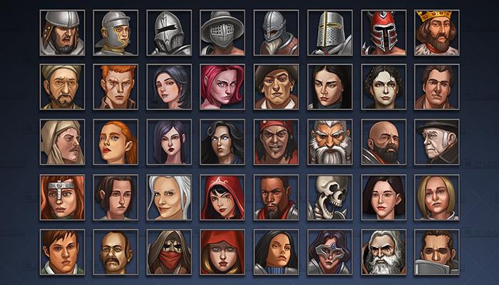 Avatar icons: Human Characters