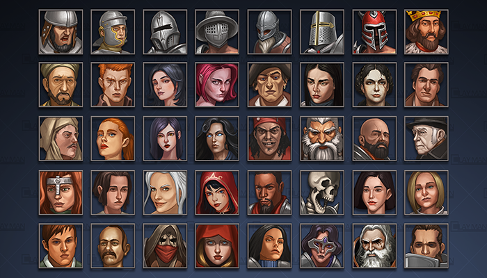 Avatar icons: Human Characters