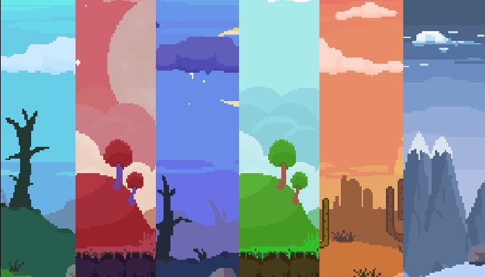 Parallax Pixel Art Backgrounds Pack #2