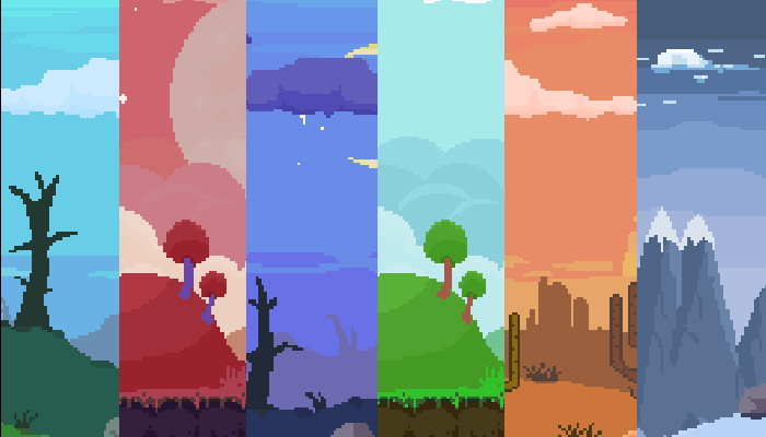 Parallax Pixel Art Backgrounds Pack #2