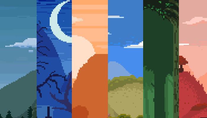10 Parallax Pixel Art Background Pack #1