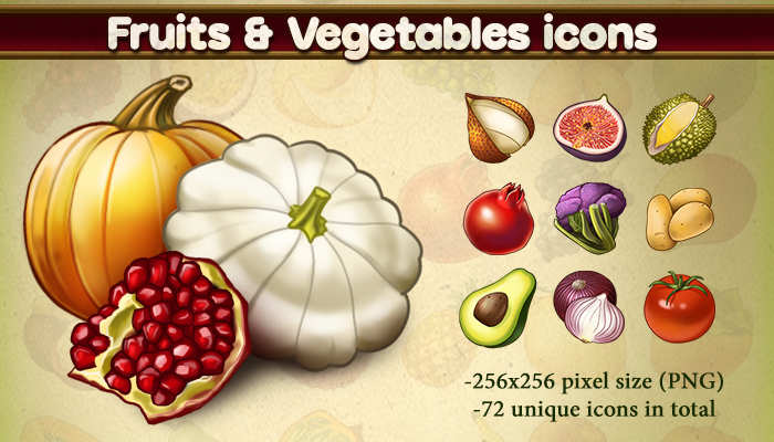 Fruits & Vegetables icons