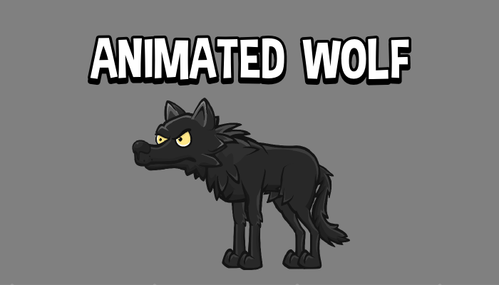 Animated wolf 2d game sprite