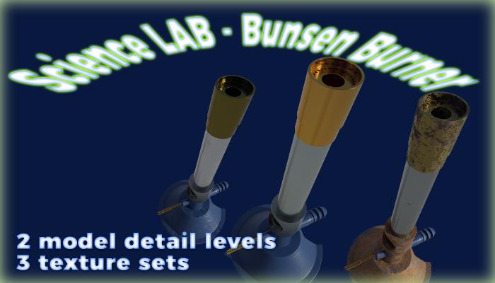 Science Lab – Bunsen Burner (3 versions)
