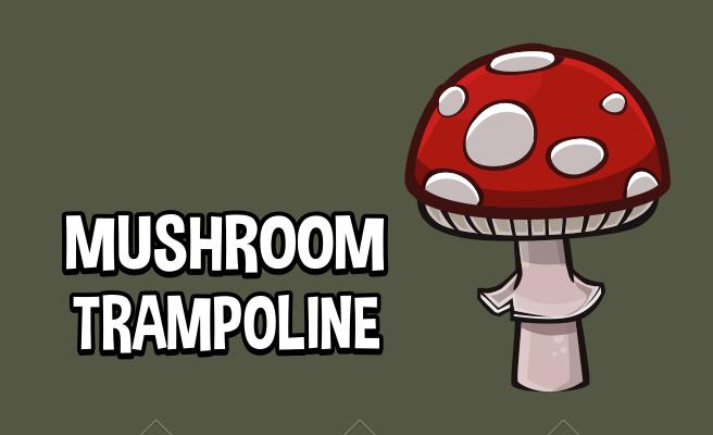 Mushroom trampoline