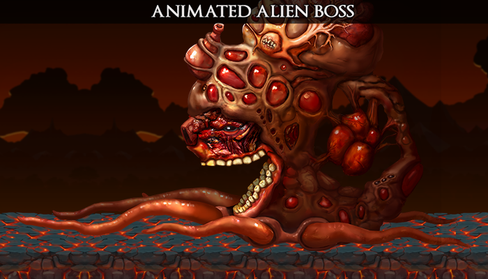 Animated Alien Boss