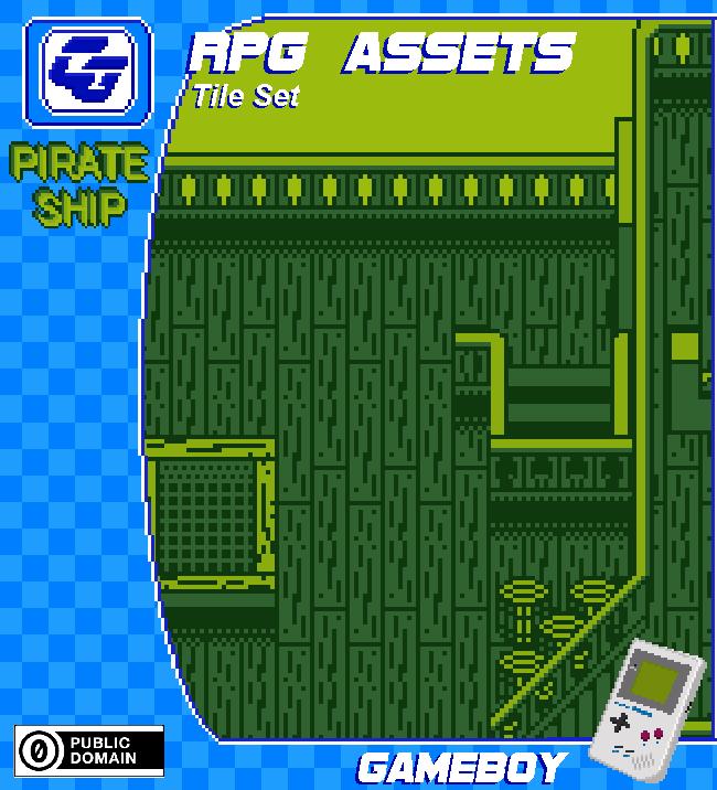 RPG Tile Set 'Pirate Ship' Gameboy
