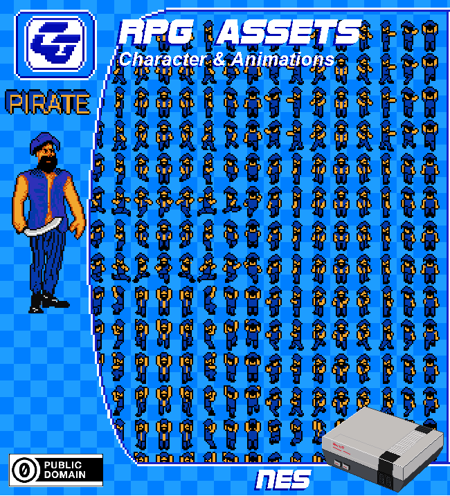 RPG Character 'Pirate' NES