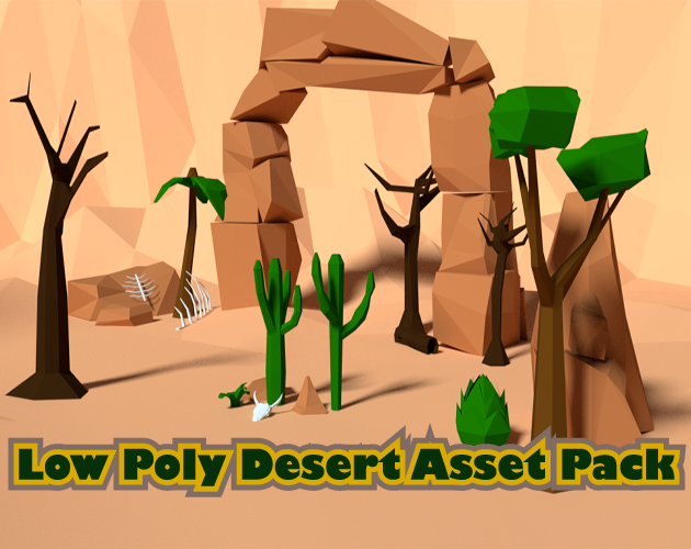 Low Poly game ready Desert Asset Pack