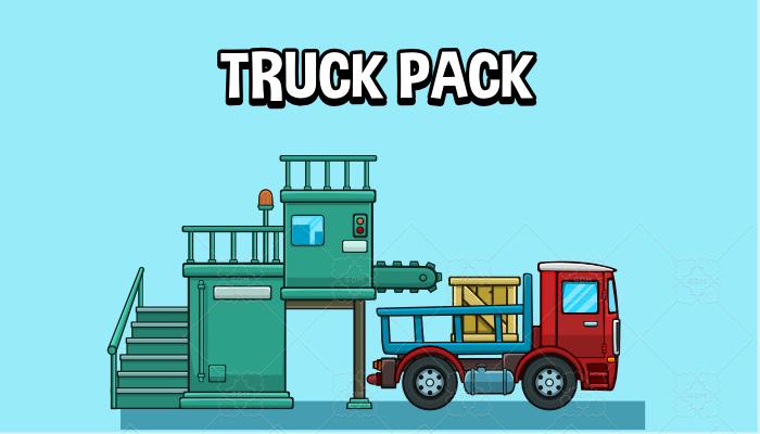 Trucks 2d game asset pack