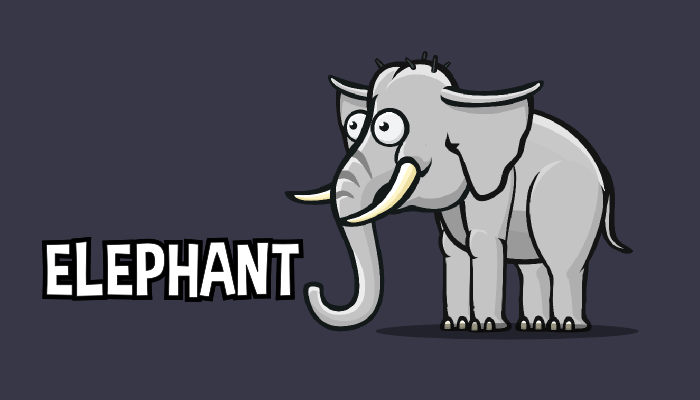 2D animated elephant game asset
