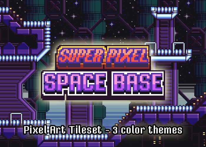 Super Pixel Space Base