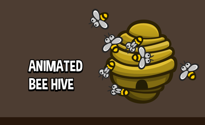 2D animated beehive game asset