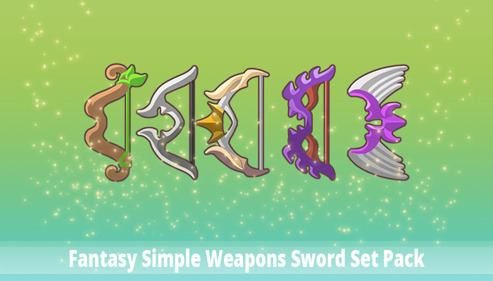 Fantasy Simple Weapons Bow Set Pack