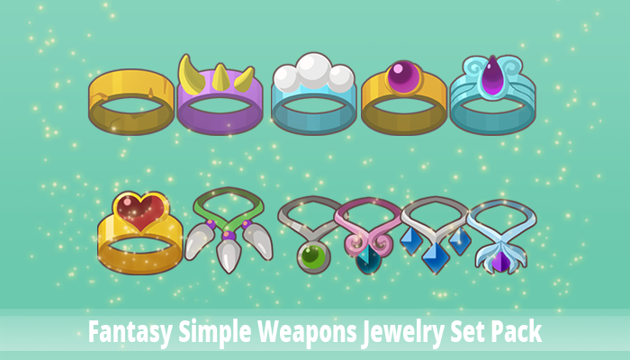 Fantasy Simple Weapons Jewelry Set Pack
