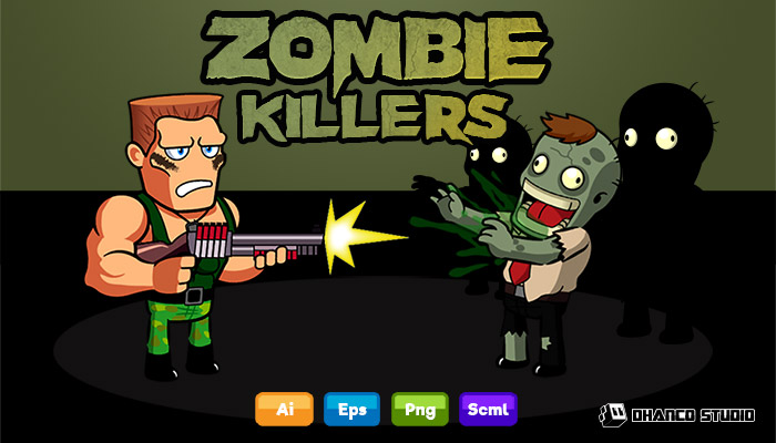 Zombie Killer Shooter – Character Sprite Sheet