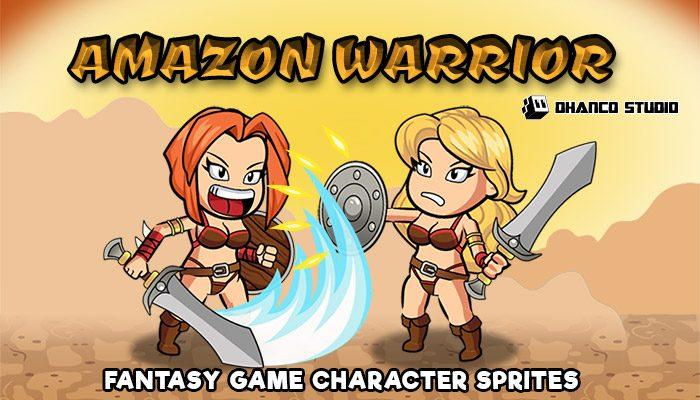 Amazon Warrior – Fantasy Character Spritesheet